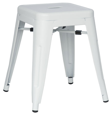 Chintaly 8018-SC-WHT Galvanized Steel Side Chair ( Set of 4 )