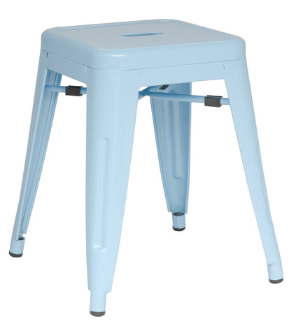 Chintaly 8018-SC-BLU Galvanized Steel Side Chair ( Set of 4 )