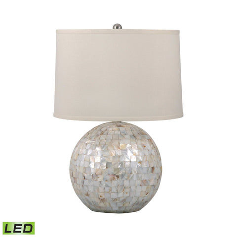 Lamp Works LAM-810-LED Mother of Pearl Collection Mother of Pearl Finish Table Lamp