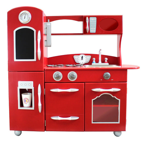 Teamson TD-11414R Teamson Kids - Little Chef Westchester Retro Play Kitchen - Red