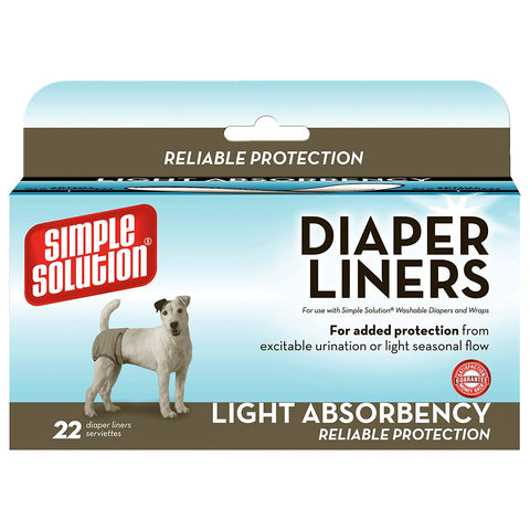 Simple Solution 10608-3P Disposable Dog Diaper Liners Light Flow 22 pack