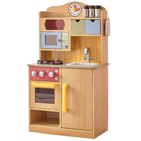 Teamson TD-11708A Teamson Kids - Little Chef Florence Classic Play Kitchen - Wood Grain