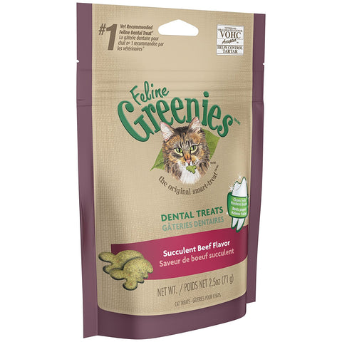 Nutro 16399 Feline Greenies Dental Treats Succulent Beef Flavor, 2.5oz - Peazz Pet