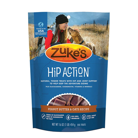 Zuke's Z-21022 Hip Action Treats with Glucosamine Peanut Butter 1 lbs.