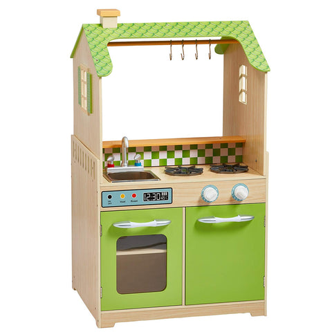 Teamson TD-11465A Teamson Kids - Little Chef Chicago Multifunctional Play Kitchen - Green