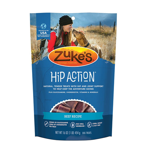 Zuke's Z-21121 Hip Action Treats with Glucosamine Roasted Beef 1 lbs.
