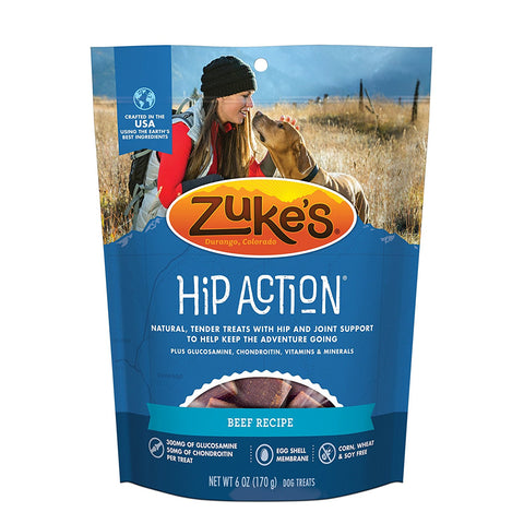 Zuke's Z-21111 Hip Action Treats with Glucosamine Roasted Beef 6 oz.
