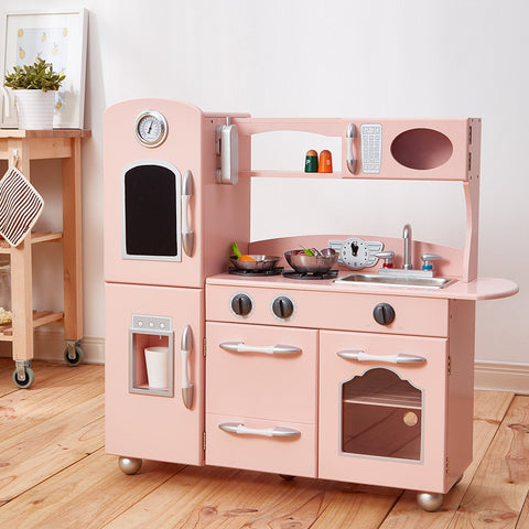 Teamson TD-11414P Teamson Kids - Little Chef Westchester Retro Play Kitchen - Pink