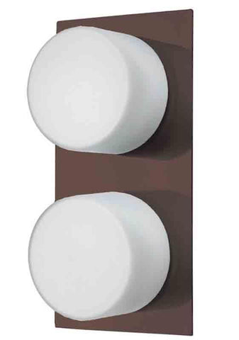 Dainolite 82555-OBB 2LT Ceiling/Wall Light w/Frosted Rnd Gl
