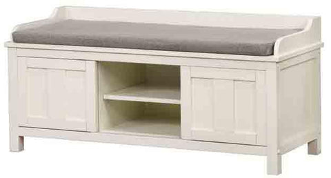 Linon 840212WHT01U Lakeville White Storage Bench