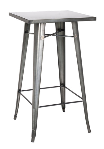 Chintaly 8421-PUB-GUN Galvanized Steel Bar Table