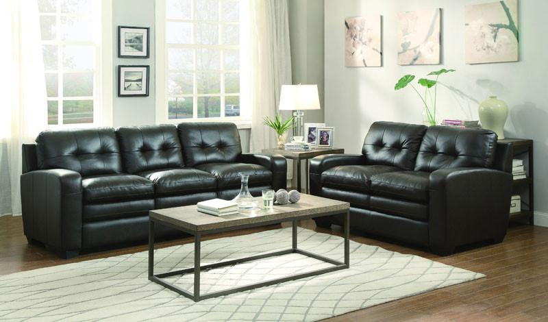 Homelegance Collection Color Chocolate Top Grain Leather Urich