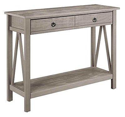 Bayden Hill 86152GRY01U Titian Rustic Gray Console Table