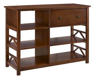 Linon 86165ATOB-01-KD-U Titian Tall Media Center