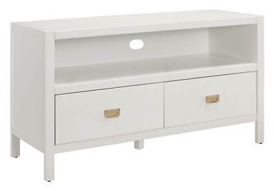 Linon 862262WHT01U Peggy Media Center