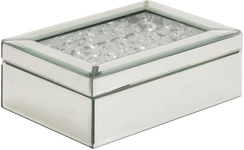 "Bayden Hill Wd Mirror Jewelry Box 10""W, 4""H - Peazz.com"