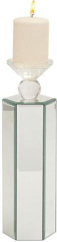 "Bayden Hill Wd Mirror Candle Holder 5""W, 15""H - Peazz.com"