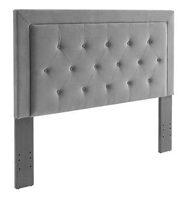 Linon 881005DOV01U Clayton Dove Full/Queen Headboard