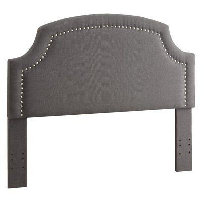 Linon 881011CHA01U Regency Headboard King Size - Charcoal