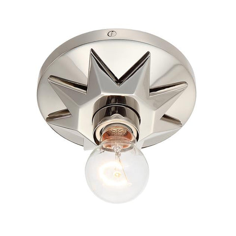 Crystorama Carson 1 Light Polished Nickel Ceiling Mount