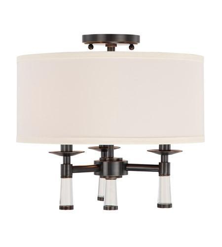 Crystorama   Ceiling   Rubbed   Bronze   Mount   Light   Oil