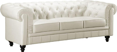 Zuo Modern 900111 Aristocrat Sofa Color White Wood Finish - Peazz.com - 1