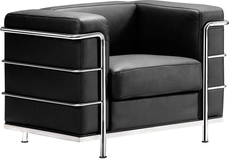 Zuo Arm Chair Color Black Chromed Steel Fortress