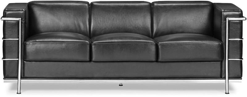 Sofa Color Black Chromed Steel Fortress 1902 Product Photo