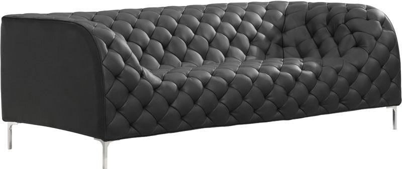 Sofa Color Black Chromed Steel 15782 Product Photo