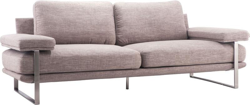 Zuo Sofa Color Wheat Brushed Stainless Steel Jonkoping