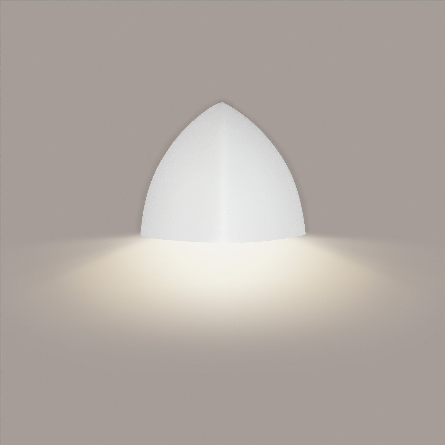 A19 901D-WETL-MW Islands of Light Collection Malta Matte White Finish Wall Sconce