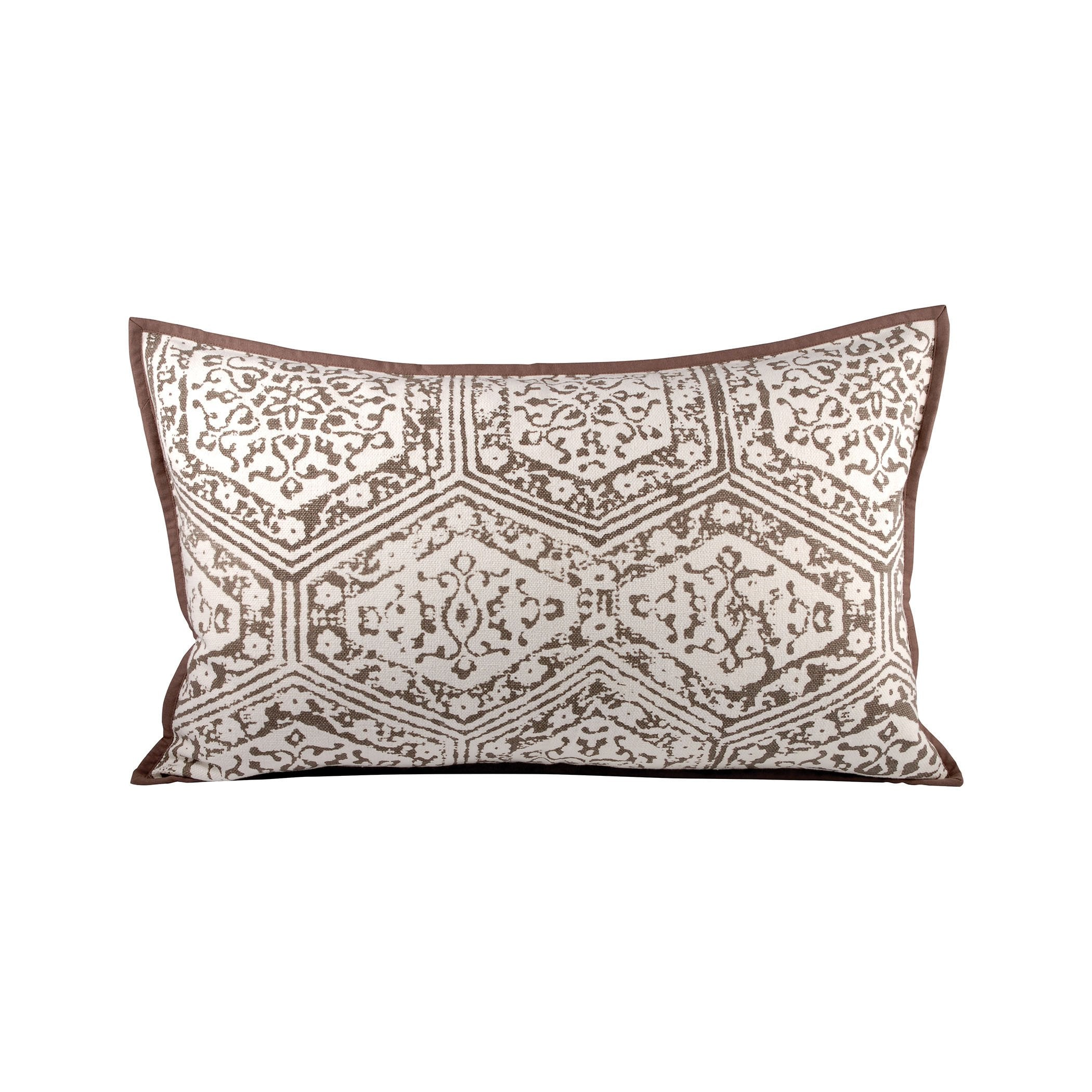 Pomeroy POM-904394 Old World Collection Dark Earth,Crema Finish Pillow