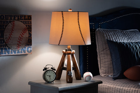 Baxton Studio TPBR0002 Ramiro Modern and Contemporary Baseball Table Lamp