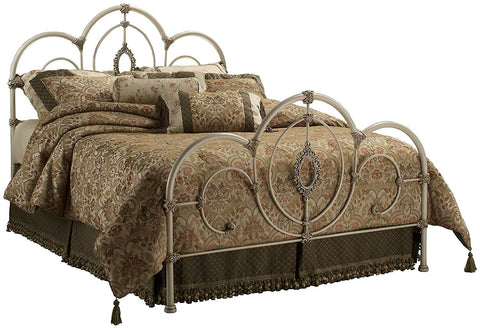 Hillsdale 1310BFR Full Size Victoria Bed with Antique White & Satin Beige