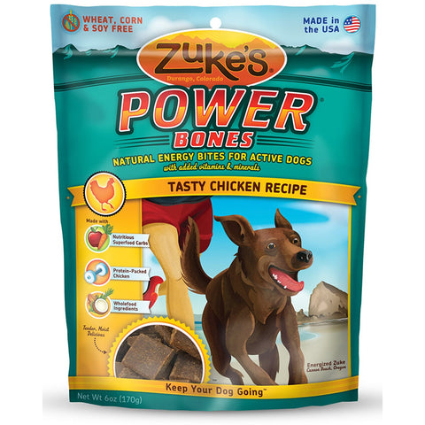 Zuke's Z-00051 Power Bones Natural Endurance Treats for Dogs Chicken 6 oz.