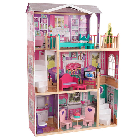 "KidKraft 65830 Elegant 18"" Doll Manor - Peazz.com"