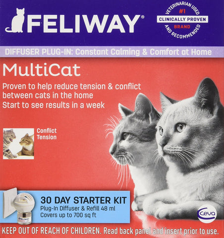 Ceva 19093 Feliway MultiCat Diffuser Plugin Starter Kit 30 Day with Vial - Peazz Pet