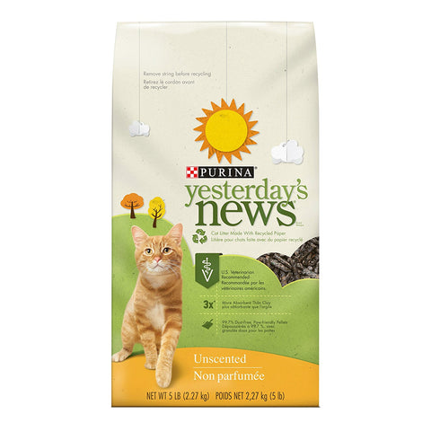 Purina 10303 Yesterday's News Original Cat Litter Unscented 5 lb - Peazz Pet