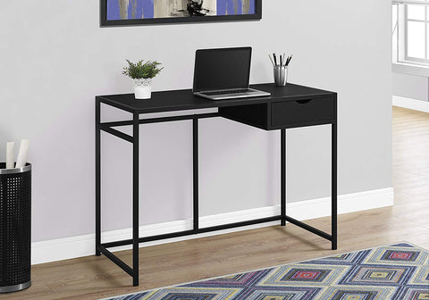 "Monarch 42"" L Metal Computer Desk, Black"