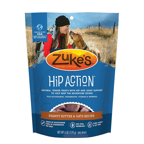 Zuke's Z-21052 Hip Action Treats with Glucosamine Peanut Butter 6 oz.