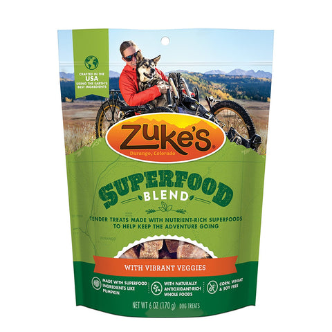 Zuke's Z-61056 Supers All Natural Nutritious Soft Superfood Dog Treats Yummy Beta 6 oz.