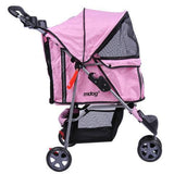 MDOG2 3-Wheel Front & Rear Entry MK0015A Pet Stroller (Pink) - Peazz.com - 3