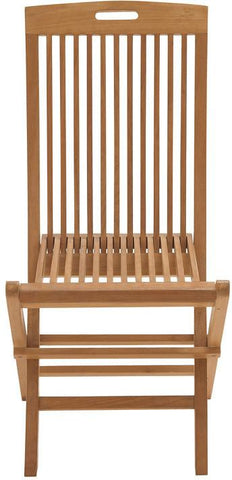 "Bayden Hill Wd Teak Folding Chair 24""W, 36""H - Peazz.com"