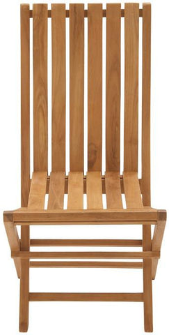 "Bayden Hill Wd Teak Folding Chair 25""W, 38""H - Peazz.com"