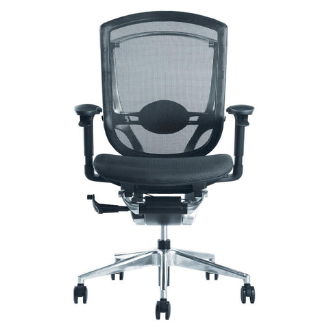 Fine Mod Imports FMI9292-black Ergo Fit Highly Adjustable Mesh Office Chair, Black - Peazz.com - 1