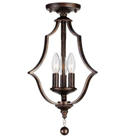 Crystorama 9350-EB_CEILING Parson 3 Light English Bronze Semi-Flush - PeazzLighting