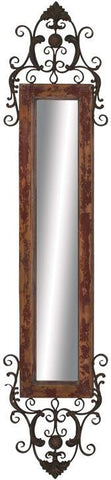 "Bayden Hill Wood Mtl Wall Mirror 10""W, 64""H - Peazz.com"