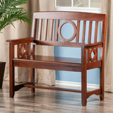 Winsome Wood 94045 Ollie Bench Walnut - Peazz.com - 2