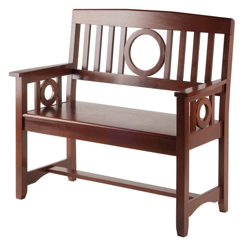 Winsome Wood 94045 Ollie Bench Walnut - Peazz.com - 1