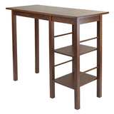 Winsome Wood 94144 Egan Breakfast Table with 2 Side Shelves - Peazz.com - 1